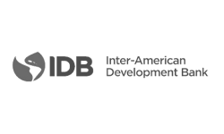 Logo for the Inter-American Development Bank, the largest source of financing for Latin American and the Caribbean.