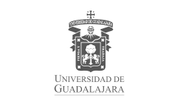 Logo: the University of Guadalajara, a public higher education institute and the second-oldest university in Mexico.